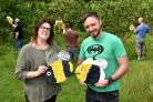 Support workers Anne-Marie Sedman and Kelvin England prepare for The Croft Community's summer fair, which takes place on Saturday    Picture: Frank Dwyer