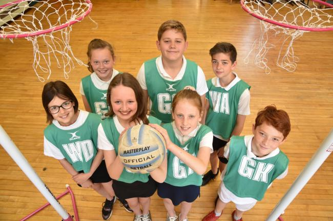 Kirkbymoorside Primary School netball team who have reached the finals of a inter-school netball competition   