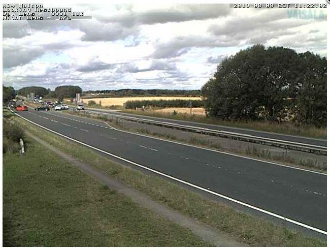 Traffic on the A64 eastbound being turned around by police following a serious crash    Picture: @HighwaysYORKS