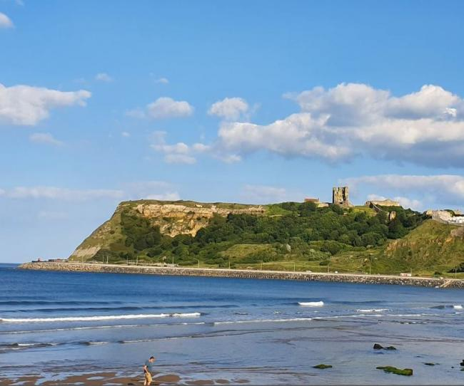 Sunny skies above Scarborough Castle      Picture: Janet Wilkinson