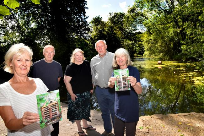 Thornton-le-Dale village hub members with their new nature trail guide, from left, Suzanne Simpson, Steve Richardson, Carolyn Flynn, Roger Sharples and Carole Winn  