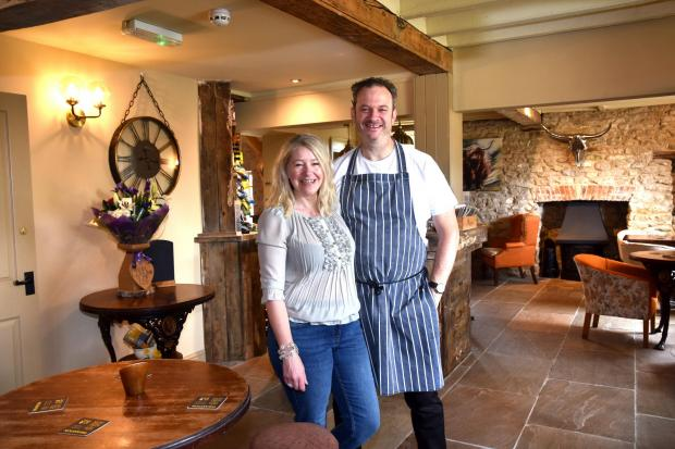 Lindsey and Richard Johns, owners of the Hovingham Inn, formerly the Malt Shovel in Hovingham, which has reopened after a seven-month refurbishment   Picture: Frank Dwyer