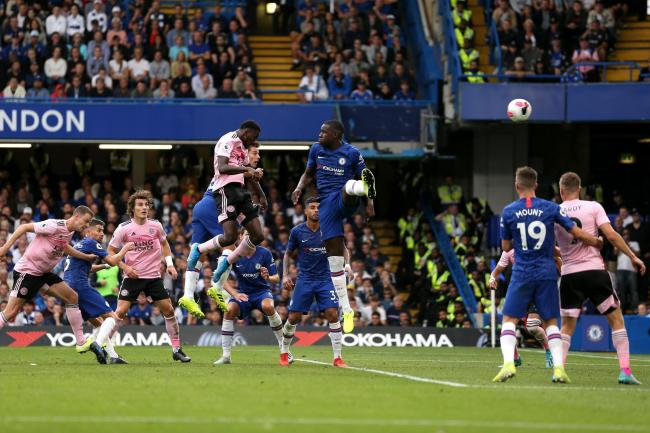Wilfred Ndidi (centre left) powers home Leicester's equaliser