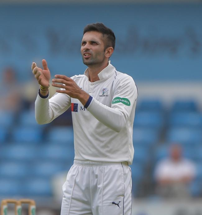 Keshav Maharaj has been replaced at Yorkshire by Ajaz Patel for te county's final two Championship games of the season. Picture: Ray Spencer