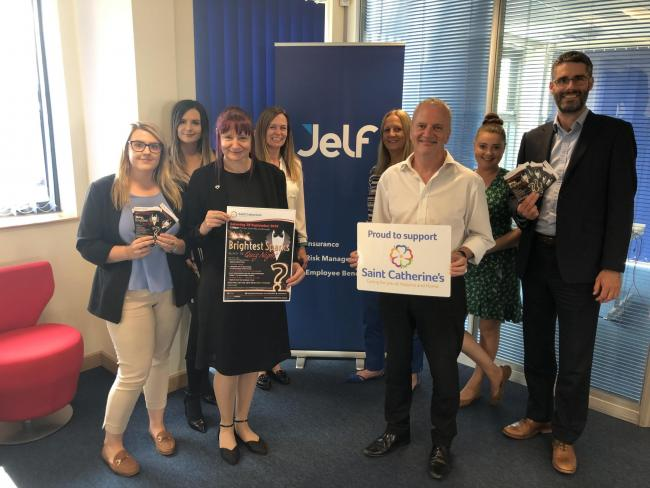 Sponsors Jelf will be in attendance on the night. Pictured in the indoor picture left to right are: Chloe Moulton, Elise Agar, Lorraine Elvidge, Liz Harvey, Carol Davis, Keith Marshall, Emma Richardson, Matt Togher.