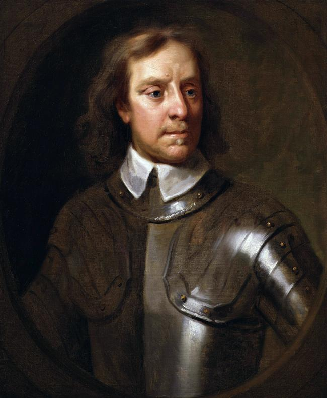 Oliver Cromwell, the remains of whom supposedly rest at Newburgh Priory, near Coxwold