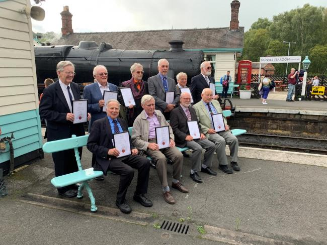 "The NYMR's ""golden"" volunteers are honoured for their dedication"