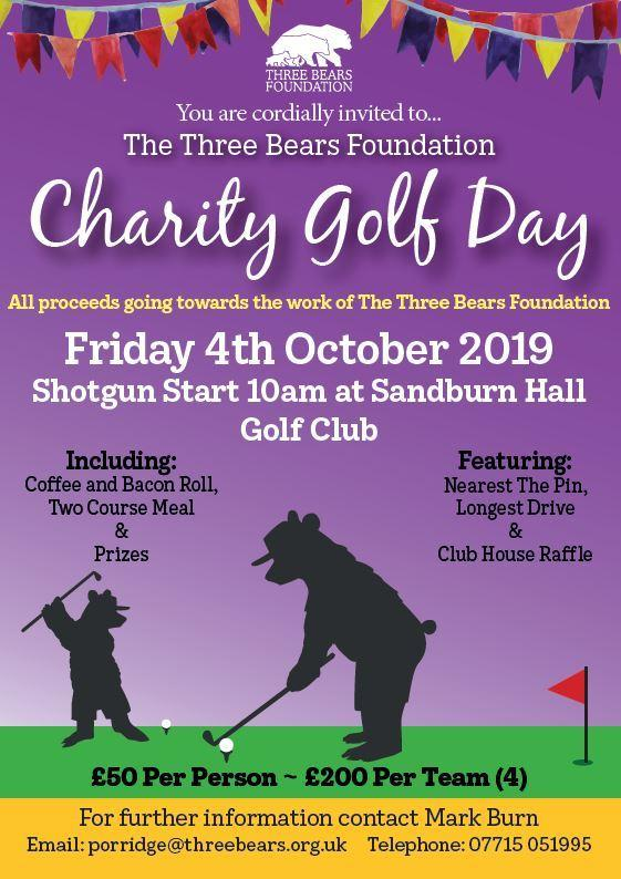 wholesale dealer 7e095 e8910 Golf charity day at Sandburn Hall for Three Bears Foundation ...