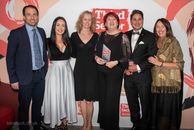 The Malton-based Encephalitis Society which won Communications Campaign of the Year for World Encephalitis Day 2019 at the Third Sector Awards in London.