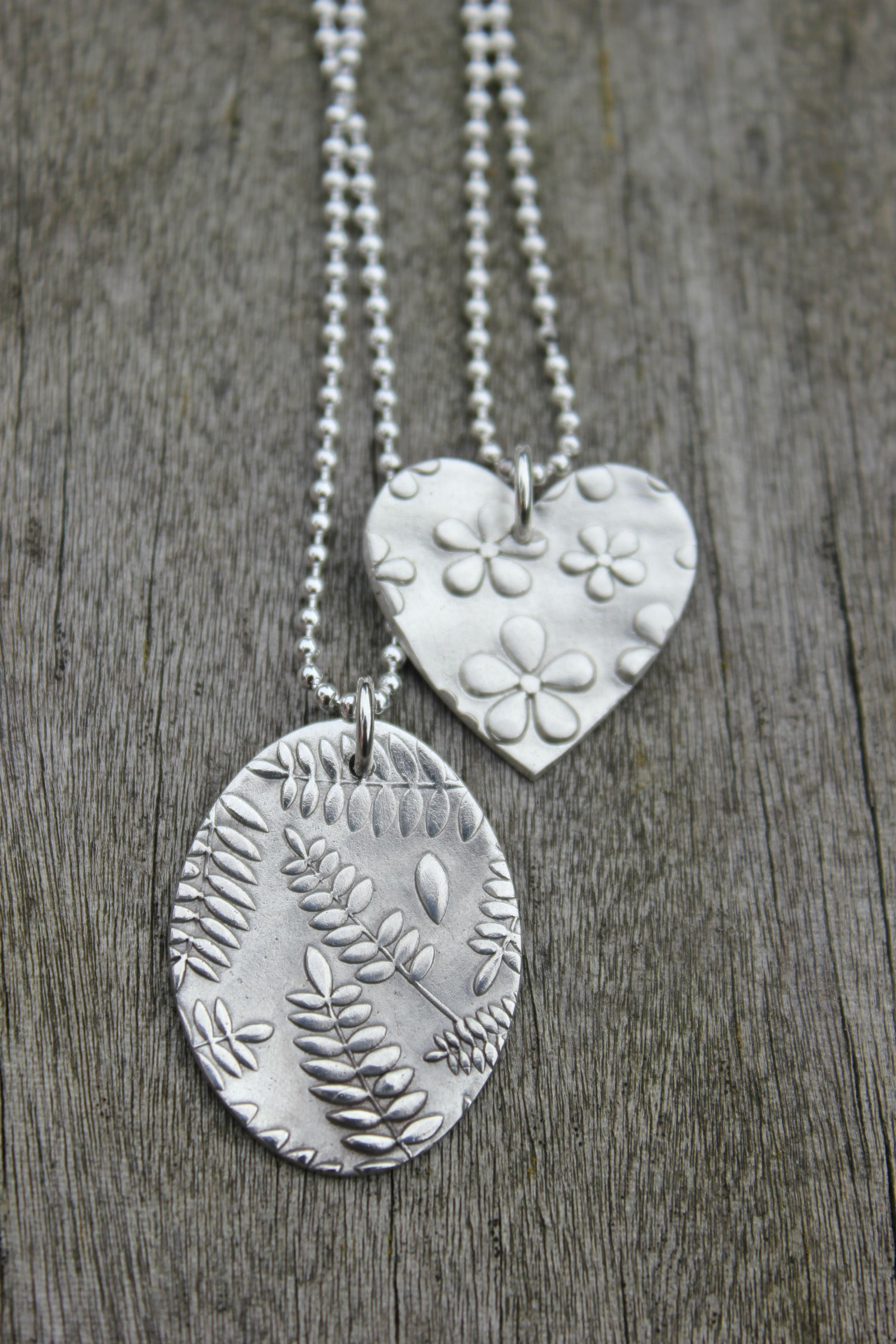 Make your own silver clay nature jewellery