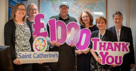 £1,000 was raised for Saint Catherine's Hospice in association with Appleton-le-Moors Women's Institute and Spear Travel of Helmsley