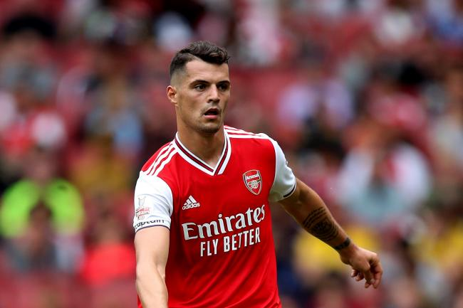 Granit Xhaka has not played for Arsenal since an outburst at supporters last month.