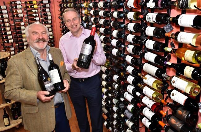 (l-r), Steve Cooling and Paul Tate Smith from  Deventio Wines in Malton prepare for their Charity Wine Tasting event   Picture Frank Dwyer