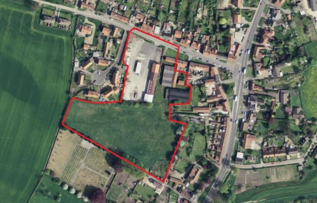 Approximate plan of the site of 40new houses at Coronation farm, south of Westgate in Old Malton. Picture: Google Maps
