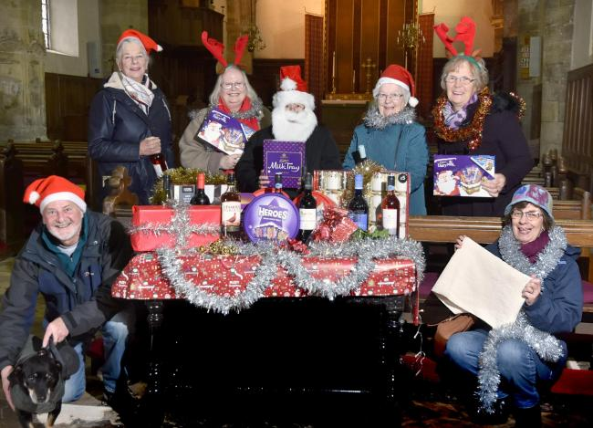 St Mary's Church, Old Malton prepare for their Christmas Fayre at the Milton Rooms on 30th November with (l-r), Steve Morgan, Caroline Jones, Jacqui Gempton, Sue Galley, Anne Smith, Ann Shipley and Helen Morgan   Picture Frank Dwyer