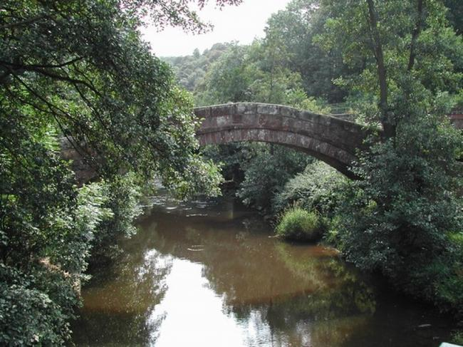 Beggar's Bridge in Glaisdale, which was built by Tom Ferris, one of the pseudonyms used by writer Peter Walker