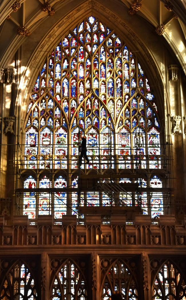 Stained glass at York Minster. Picture: Frank Dwyer