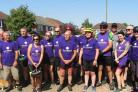 Phil Drewery was joined by family and friends to take on the 100-mile cycle over two days at the end of August