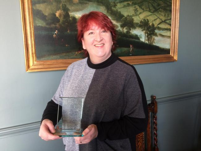 Dr Ava Easton, of the Encephalitis Society, who was presented with an Inspiring Communicator Award by CharityComms