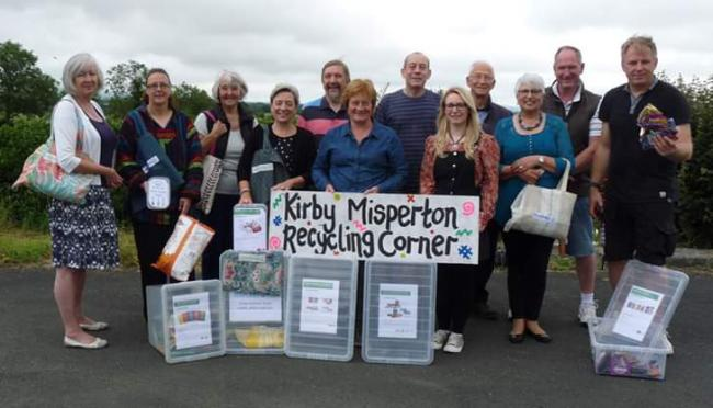 Kirby Misperton's Community Recycling Corner opened last July to recycle products which would otherwise end up in landfill and which aren't recycled by the district council