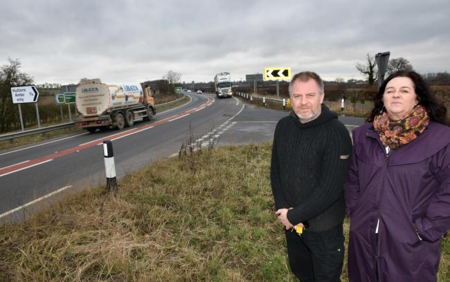 Cllr Di Keal and Steve Mason who have expressed their disappointment that Ryedale District Council (RDC) has rejected a permanent ban on lorries using a route past two primary schools
