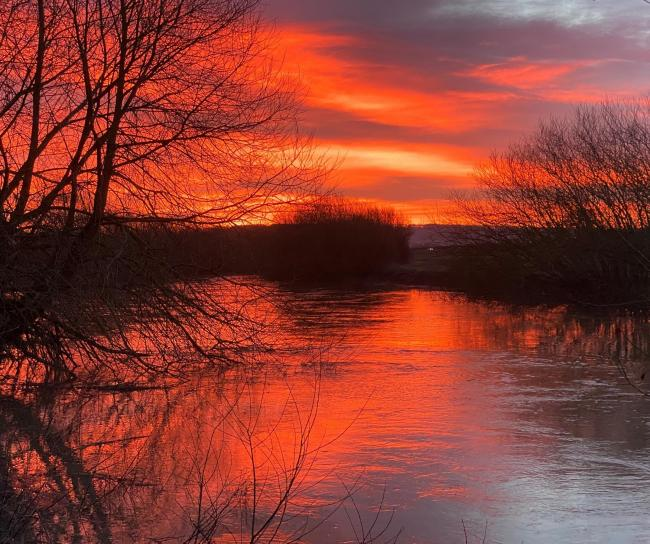 Sunrise over the river at Old Malton  Picture: Rob Coy