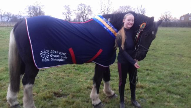 Britany Wheldon with her horse Sunny Delight