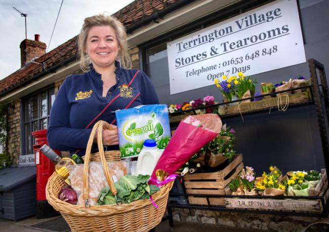 Samantha Gill owner of Terrington Stores who will be supplying home made meals and supplies around the area  Picture Frank Dwyer