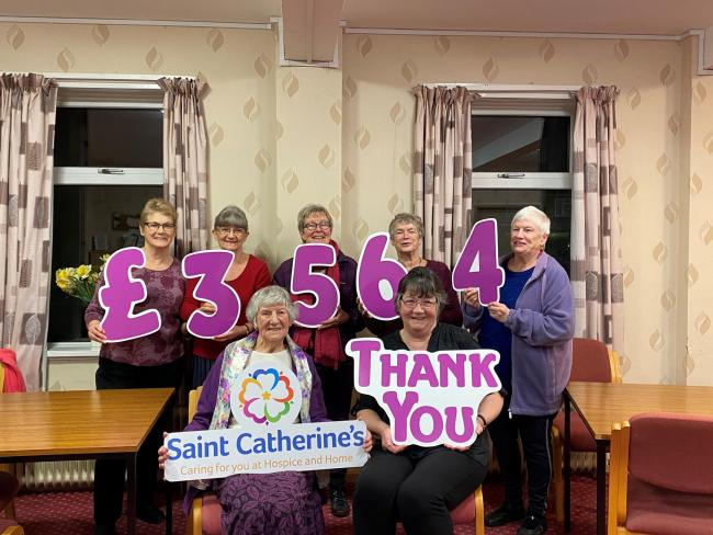 The Saint Catherine's Kirkbymoorside Support Group raised the grand total of £3,564, which will go towards Ryedale services, wellbeing support and in-patient care