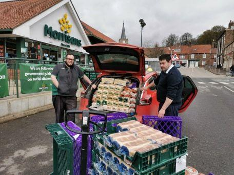 Morrisons in Malton has been one of the stores donating to Ryedale Foodbank during the coronavirus crisis
