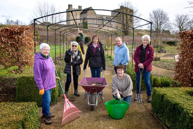 The team at Helmsley Walled Garden in March before the coronavirus pandemic  Picture: Frank Dwyer