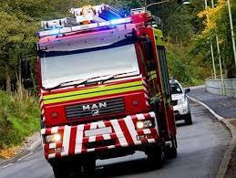 Firefighters tackle lorry fire