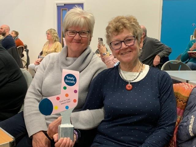 Barbara Machin, from Norton Free Fridge, and Lindsay Wrightson, of Ryedale Free Fridge, at the Coast and Vale Action Group awards in Scarborough in March this year where the fridges were recognised for their success