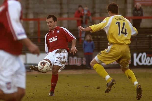Former York City midfielder Dave Merris in action against Grays Athletic. Picture: David Harrison