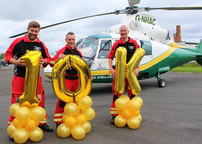 The Great North Air Ambulance Service (GNAAS) has launched a £10,000 raffle in order to bridge a funding gap that has resulted from the coronavirus outbreak