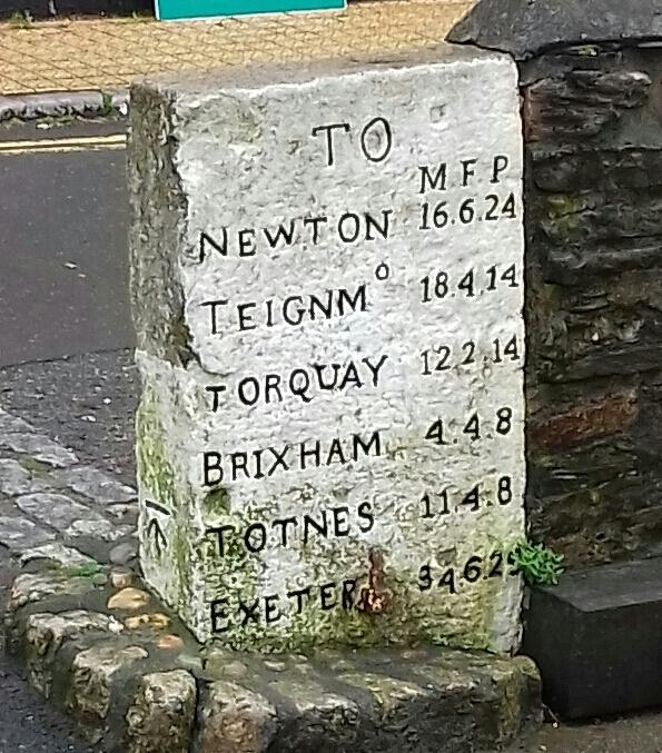 An old milestone reader Mark Dodsworth spotted while queuing for the Kingswear to Dartmouth ferry in Devon