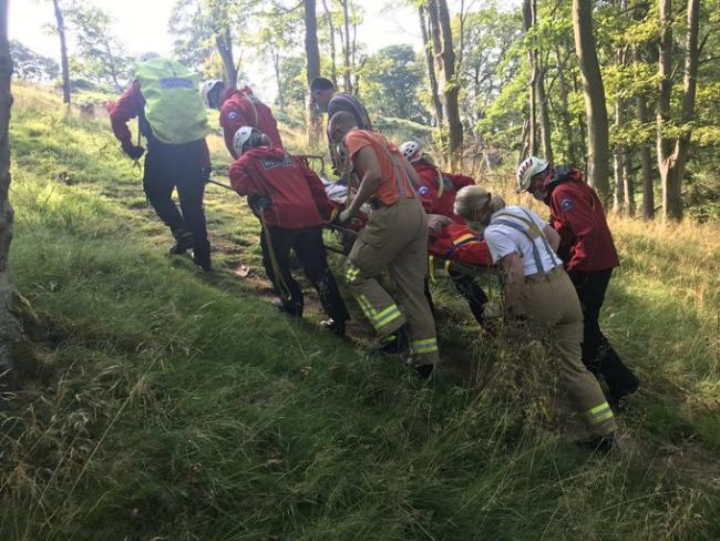 Mountain rescue have helped a woman suffering a leg injury   Picture: @scarrescue