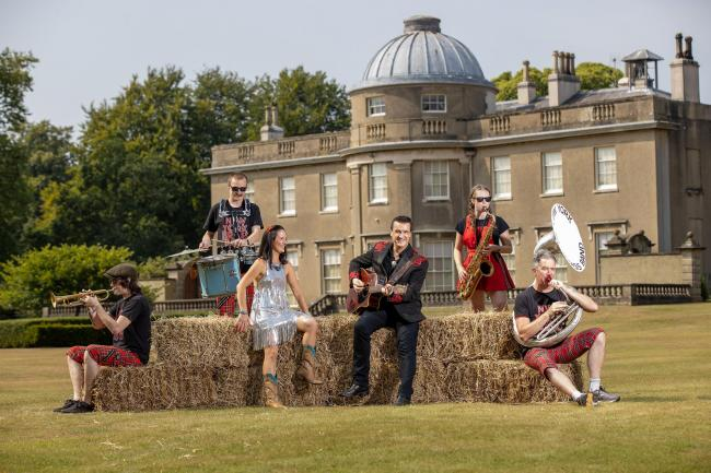 Performers take a break from rehearsals for the Sounds in the Grounds concert series taking place at Scampston Hall    Picture: Charlotte Graham
