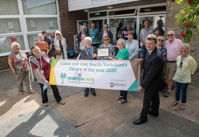 Norton HIVE Library and Community Hub is celebrating after being named North Yorkshire's Library of the Year 2020