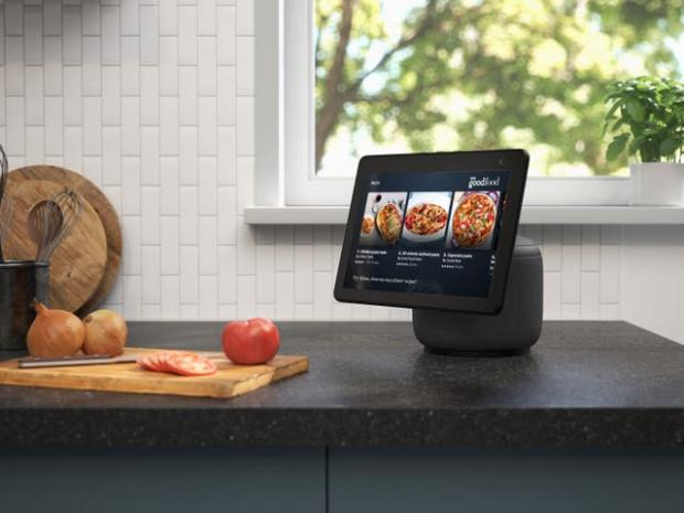 Gazette & Herald: The new Echo Show screen can swivel to follow the user. Picture: Amazon