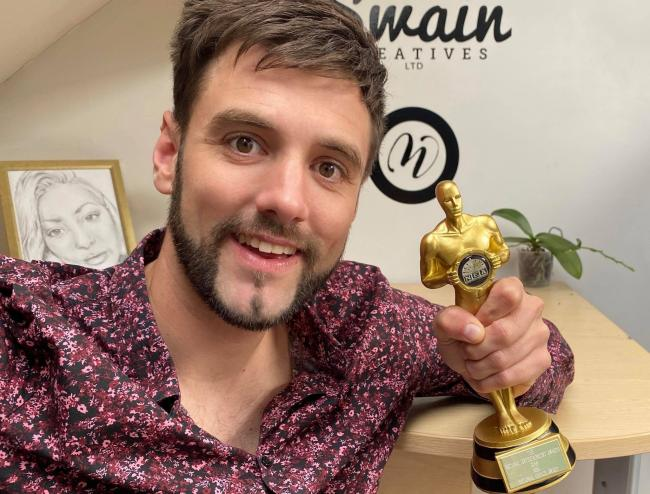 Ryan Swain who has won The People's Choice Award in the Northern Regional Enter-