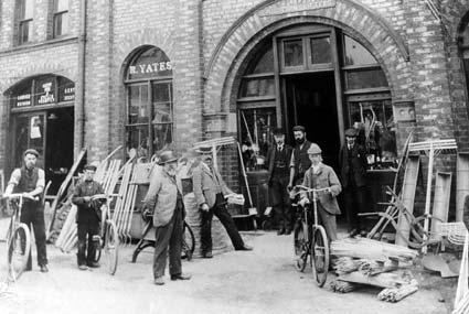 R Yates and Sons Ltd, Railway Street, Malton, in the early 1900s.