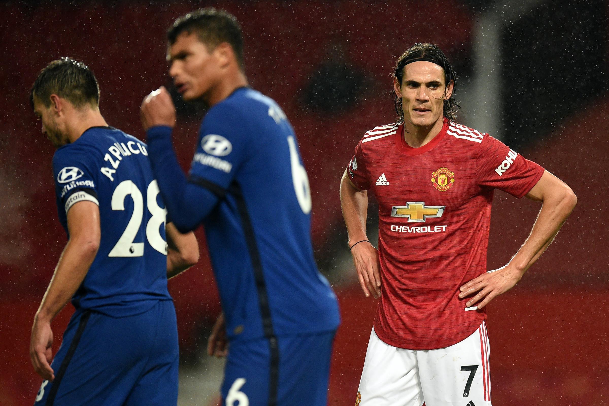 Debutant Edinson Cavani comes close but United and Chelsea draw a blank |  Gazette & Herald