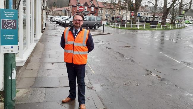 Adrian Hamilton who has been appointed Town Centre Ambassador  by Ryedale District Council (RDC) to help businesses and residents safely navigate the challenges of the coronavirus pandemic