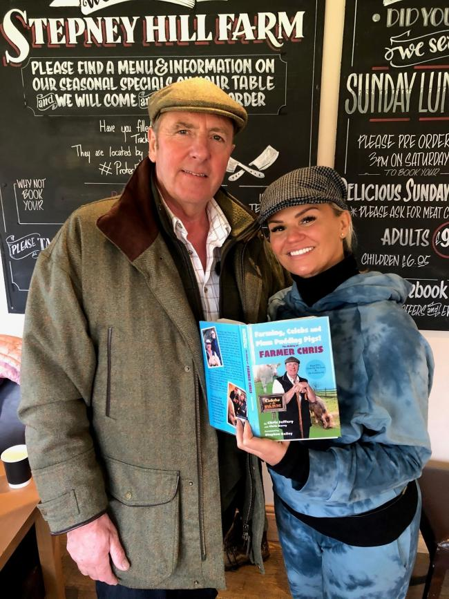 Chris Jeffery, who has launched his autobiography to coincide with his involvement with the show Celebs on the Farm with Kerry Katona who appears on the show