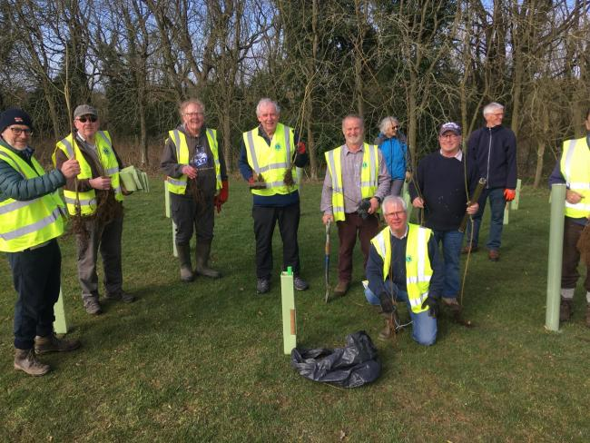 Members of Ryedale Lions and friends have planted 300 trees in the Pickering Community Park