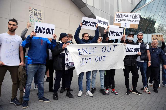 Tottenham fans protested at the club's ownership at a recent game against Southampton