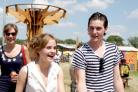 George Craig of Helmsley-based One Night Only band seen at Glastonbury Festival with Harry Potter actress Emma Watson