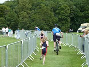 Castle Howard Triathlon youngsters race.