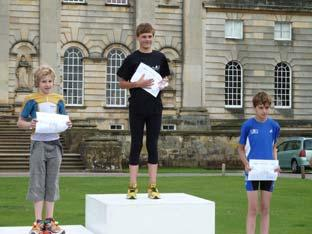 Castle Howard Triathlon youngsters race winners.